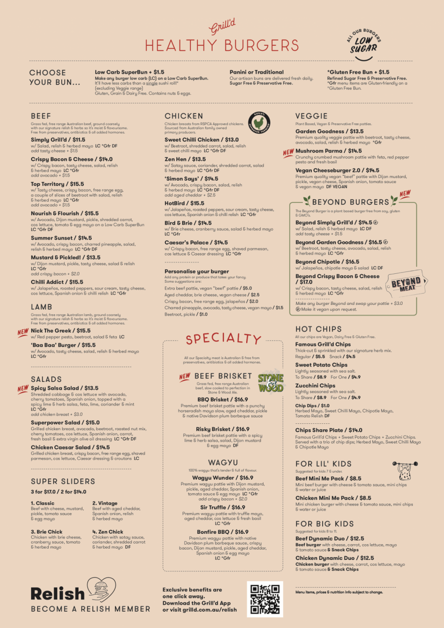GRILLD MENU TAKEAWAY MARCH NT